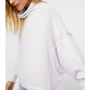 Free people lilac drapey swing cowl neck t S